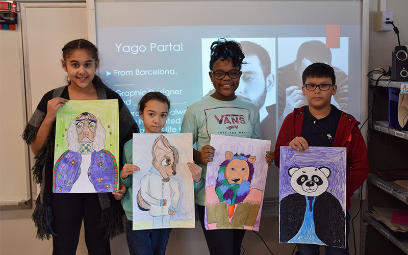 DGW Students Inspired by Famous Artist photo