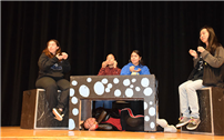 Drama Students Prep for Performances photo
