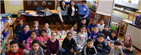 Copiague's High School Heroes become teachers for a day photo