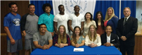 Senior-Athletes Commit to College Sports Photo