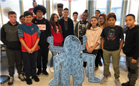 Middle School Artists Create Haring-Inspired Piece photo